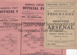 ARSENAL Two Arsenal single sheet homes v Coventry City 1/9/1945 (team changes) and Aston Villa 22/