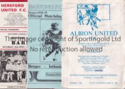 NON LEAGUE A collection of 315 Non League programmes from the 1960's to 1990's the vast majority