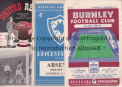 ARSENAL A collection of 89 Arsenal away programmes 1953/54 to 1959/60 to include v Aston Villa ,