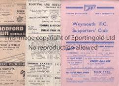 NON LEAGUE A collection of 66 Non League programmes from the 1950's. Clubs represented are Aylesbury