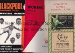 HANDBOOKS A collection of 20 Official Handbooks to include Norwich City 1938/39, Doncaster Rovers