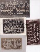 POSTCARDS Four postcards of team groups. London Caledonians 1905/06 , Nottingham Forest 1908/09 ,