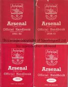 ARSENAL A collection of 13 Arsenal Official Handbooks. 1950/51,1951/52, 1954/55, 1960/61,1961/62,
