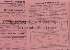SPURS Seven Tottenham Hotspur single sheet home programmes from the 1945/46 season v Wolverhampton