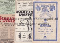 1950's A collection of 190 programmes of League Clubs almost all from the 1950's with just a few