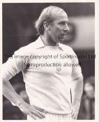 CHARLTON / STILES PRESTON Two rare Press photos of Bobby Charlton and Nobby Stiles playing for