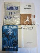 "RANGERS Four Rangers books. ""We will follow Rangers"" 1961 (lacking covers), ""Rangers Scotland's"