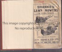 WISDEN Brown Rebind without original front cover John Wisden's Cricketers' Almanack 1925.