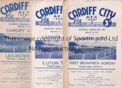CARDIFF A collection of 22 Cardiff City home programmes (18) v West Bromwich Albion 1948/49 (