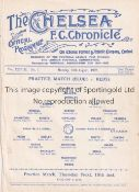 CHELSEA Single sheet programme Practice match Blues v Reds 15/8/1932. Ex Bound Volume. Generally