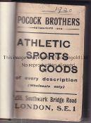 WISDEN ALMANACK 1920 Rebound in brown hardback, lacking covers. Generally good