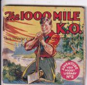 ADVENTURE MAGAZINE BOOKLET 1939 Adventure Vest Pocket Library no. 2, The 1000 Mile K.O., rusty