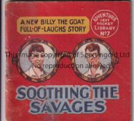 ADVENTURE MAGAZINE BOOKLET 1939 Adventure Vest Pocket Library no. 7, Soothing The Savages, staple