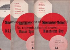 MANCHESTER UNITED Twenty two home programmes for season 1958/9 including 19 home League, missing