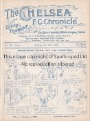 CHELSEA Home programme v Manchester United 13/4/1925. Ex Bound Volume. Generally good