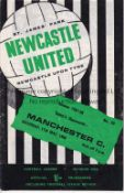 NEWCASTLE UNITED V MANCHESTER CITY 1968 Programme for the Championship decider at Newcastle 11/5/