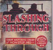 ADVENTURE MAGAZINE BOOKLET 1939 Adventure Vest Pocket Library no. 4, Slashing Through, staple rusted