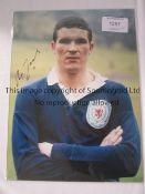 SCOTLAND Autographed lot of 16 x 12 photos of former Internationals, McNeill, Yeats, Caldow,