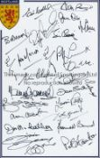 SCOTLAND Autographed 12 x 8 crested photo with coloured borders, signed by 25 former