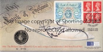 PAUL McCARTNEY AUTOGRAPH A commemorative ?2 coin First Day Cover signed on the front by the