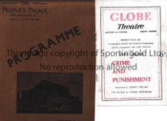 THEATRE PROGRAMMES Six programmes. Sadlers Wells: Don Carlos 1939, Rigoletto 1938 and Cosi Fan Tutte