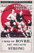 ENGLAND V SCOTLAND 1934 Programme for the International at Wembley. Good