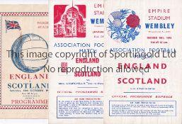ENGLAND V SCOTLAND 1942 Three programmes for the Internationals at Wembley 171/1942, very slight