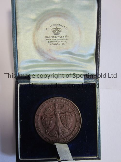 KENNETH POWELL MEDAL / VARSITY JUBILEE 1913 Boxed round medal presented to participants of the
