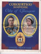 FOOTBALL: GLASGOW V EDINBURGH / 1937 CORONATION Official programme for the 1937 Coronation City of