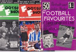FOOTBALL FAVOURITES BOOKLETS Three issues, Book 5, New Series No.3 and New Series No. 4, slight wear
