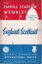 ENGLAND V SCOTLAND 1938 Programme for the International at Wembley, slightly rusty staples.