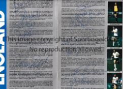 ENGLAND V NORTHERN IRELAND 1984 AUTOGRAPHS Programme for 4/4/1984 at Wembley signed by 15 England