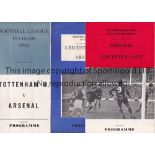 ARSENAL Three pirate programmes issued by Nicholls, home v Leicester 70/1 FA Cup and away v