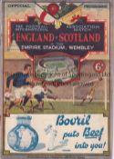 ENGLAND V SCOTLAND 1932 Programme for the International at Wembley. Good