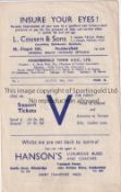 HUDDERSFIELD Four page home programme v Manchester United 25/8/1945. Light horizontal fold. No