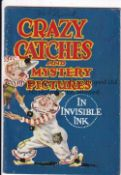 ADVENTURE MAGAZINE BOOKLET 1939 Crazy Catches and Mystery Pictures In Invisible Ink, rusty staple.
