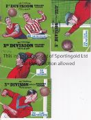 THE CHAMPION MAGAZINE FOOTBALL BOOKLETS 1935 Parts 1, 2, 3 and 4 issued in 1935. 1st Division, 2nd