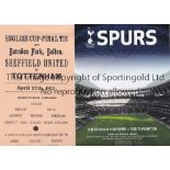 TOTTENHAM, HOTSPUR Reprinted programmes for the 1901 FA Cup Final and Replay v. Sheffield United and