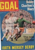 JACK CHARLTON AUTOGRAPH Cover of goal magazine 5/10/1968 signed by Charlton on his picture. Good