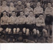 """NEWPORT COUNTY An original 7"""" X 6"""" B/W team group Press photo with South Wales Argus stamp on the"""
