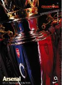ARSENAL Fourteen official Merchandising Catalogue from the 1990's to 2000's plus 2 lists from the