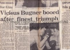 BOXING SCRAPBOOK 1967 - 1971 Large ledger with many newspaper cuttings including Cassius Clay /