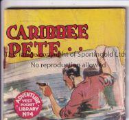 ADVENTURE MAGAZINE BOOKLET 1939 Adventure Vest Pocket Library no. 4, Caribbee Pete, rusty staple.