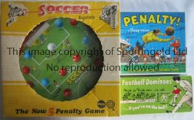 """FOOTBALL GAMES Three Football games, """"Soccer Bagatelle"""" made by Marx, complete with box, Football"""