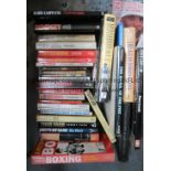 BOXING BOOKS Thirty three books with a mixture of hardback and softback. Hardback include The Ring