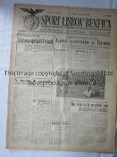 BENFICA v ARSENAL 1948 S.L. Benfica v Arsenal (Friendly) played 3/5/1948 at Estadio Nacional,
