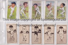 CRICKET TRADE CARDS A large folder containing over 230 cards from various sets from the 1920's -