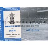 DEREK TEMPLE Autographed 1966 FA Cup semi-final programme v Man United, together with a 12 x 8 photo