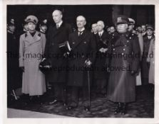 PRIME MINISTER NEVILLE CHAMBERLAIN / ADOLF HITLER 1938 Eight original B/W Press photos including the