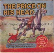 ADVENTURE MAGAZINE BOOKLET 1939 Adventure Vest Pocket Library no. 8, The Price On His Head, staple